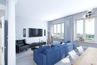 "Apartment in the style of ""Loft"" by the project AB Sretenka (option 2)"